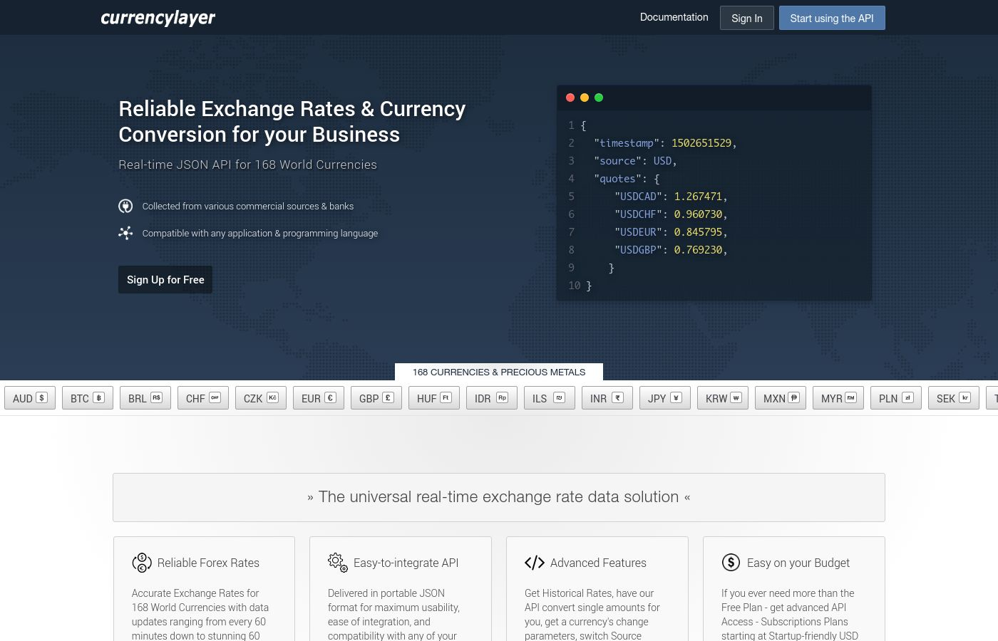 CURRENCY CONVERTER API FREE - currencystack io | Reliable API for